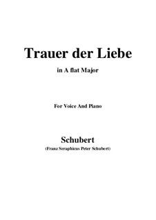 Trauer der Liebe, D.465: A flat Major by Franz Schubert