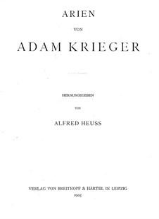 Neue Arien: Neue Arien by Adam Krieger