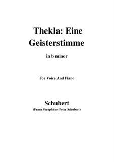 Thekla. Eine Geisterstimme, D.595 Op.88 No.2: For voice and piano (b minor) by Franz Schubert