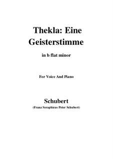 Thekla. Eine Geisterstimme, D.595 Op.88 No.2: For voice and piano (b flat minor) by Franz Schubert