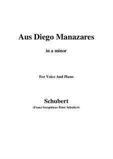 Aus Diego Manazares, D.458: A minor by Franz Schubert