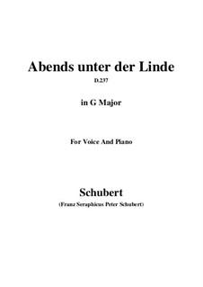 Abends unter der Linde, D.237: G Major by Franz Schubert