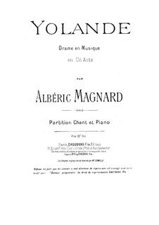 Yolande, Op.5: Yolande by Albéric Magnard