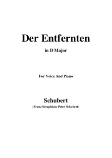 Der Entfernten, D.350: D Major by Franz Schubert