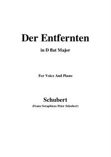 Der Entfernten, D.350: D flat Major by Franz Schubert