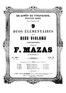 Neun Duette für zwei Violinen, Op. posth.86 No.4-9: Stimmen by Jacques Féréol Mazas
