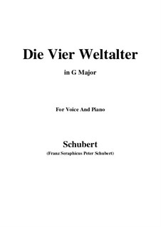 Die vier Weltalter, D.391 Op.111 No.3: G Major by Franz Schubert