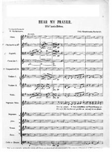 Hör mein Bitten, WoO 15: Vollpartitur by Felix Mendelssohn-Bartholdy