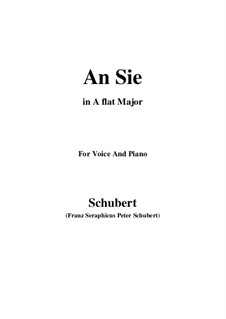 An Sie, D.288: A flat Major by Franz Schubert