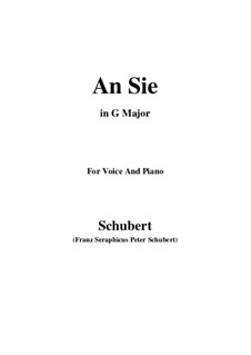 An Sie, D.288: G Major by Franz Schubert