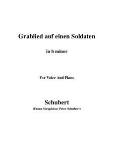 Grablied auf einen Soldaten, D.454: B minor by Franz Schubert