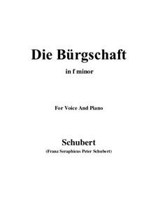 Die Bürgschaft, D.246: F minor by Franz Schubert