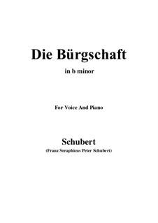 Die Bürgschaft, D.246: B minor by Franz Schubert
