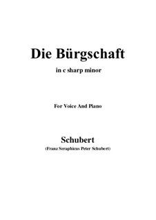 Die Bürgschaft, D.246: C sharp minor by Franz Schubert