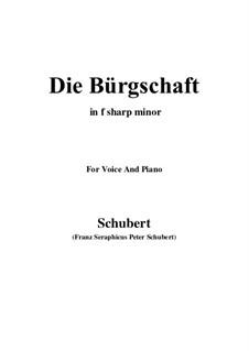Die Bürgschaft, D.246: F sharp minor by Franz Schubert