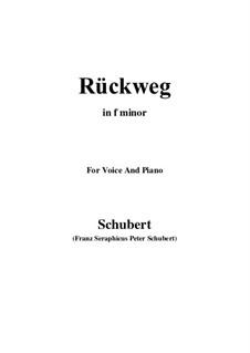 Rückweg, D.476: F minor by Franz Schubert