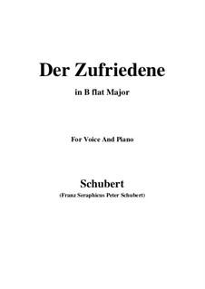 Der Zufriedene, D.320: B flat Major by Franz Schubert