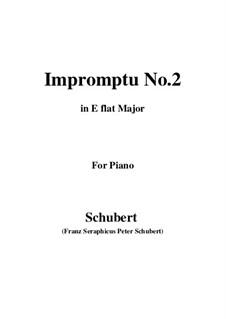 Vier Impromptus für Klavier, D.899 Op.90: Impromptu No.2 by Franz Schubert
