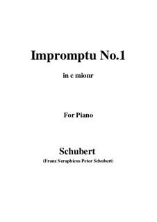 Vier Impromptus für Klavier, D.899 Op.90: Impromptu No.1 by Franz Schubert