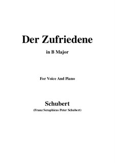 Der Zufriedene, D.320: B Major by Franz Schubert