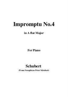 Vier Impromptus für Klavier, D.899 Op.90: Impromptu No.4 by Franz Schubert