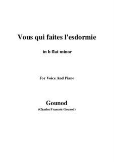 Faust: Vous qui faites l'endormie (b flat minor) by Charles Gounod