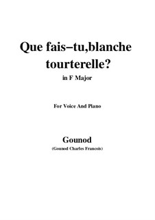 Romeo und Julia: Que fais tu, blanche tourterelle by Charles Gounod