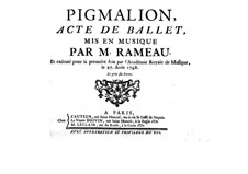 Pigmalion, RCT 52: Pigmalion by Jean-Philippe Rameau