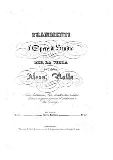 Frammenti d'opere di studio, BI 310, 312, 315, 313: Frammenti d'opere di studio by Alessandro Rolla