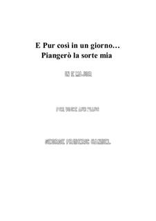 Julius Cäsar, HWV 17: Piangerò la sorte mia (E Major) by Georg Friedrich Händel