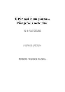 Julius Cäsar, HWV 17: Piangerò la sorte mia (G flat Major) by Georg Friedrich Händel