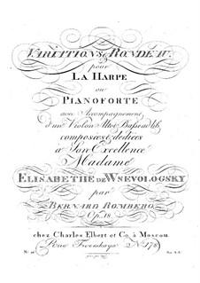 Variationen und Rondo für Streichtrio und Harfe (oder Klavier), Op.18: Variationen und Rondo für Streichtrio und Harfe (oder Klavier) by Bernhard Romberg