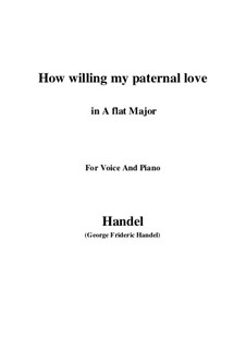 Samson, HWV 57: How willing my paternal love (A flat Major) by Georg Friedrich Händel
