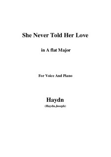 She Never Told Her Love: A flat Major by Joseph Haydn