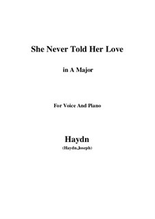 She Never Told Her Love: A-Dur by Joseph Haydn