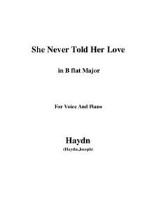 She Never Told Her Love: B flat Major by Joseph Haydn