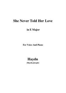 She Never Told Her Love: E Major by Joseph Haydn