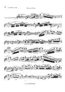 Introduktion und Variationen brillante für Flöte und Klavier (oder Gitarre), Op.19: Flötenstimme by Karol Scholl