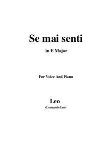 La Clemenza di Tito. Se mai senti: E Major by Leonardo di Leo