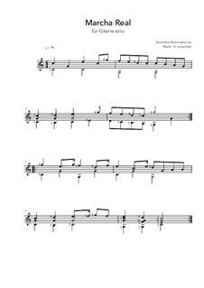 Marcha Real - Spanish Anthem: Für Gitarre by folklore
