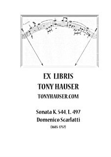 Sonate Nr.497 in B-Dur, K.544 L.497 P.548: Für Gitarre by Domenico Scarlatti