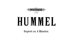 Septett Nr.1 in d-Moll, Op.74: Für Klavier, vierhändig by Johann Nepomuk Hummel