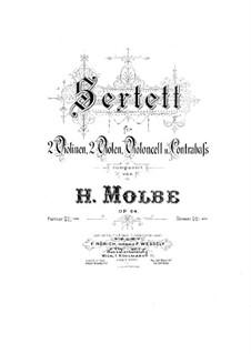 Streichsextett, Op.64: Cellostimme by Heinrich Molbe