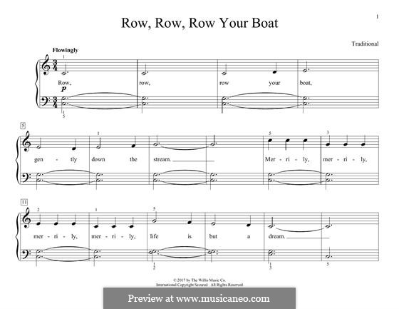 Row, Row, Row Your Boat: Für Klavier by folklore