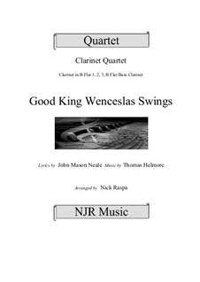 King Wenceslas Swings: For easy clarinet quartet by Thomas Helmore