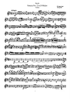 Sonate Nr.2 in D-Dur: Solostimme by Joseph Haydn