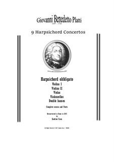 9 Concertos for Harpsicord obbligato and Strings: Scores and parts, CSPla28 by Giovanni Benedetto Platti