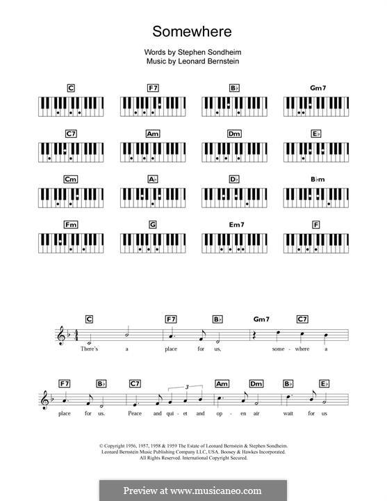 Somewhere (from West Side Story): Melodische Linie by Leonard Bernstein
