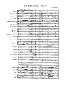 La Rondine: Vollpartitur by Giacomo Puccini
