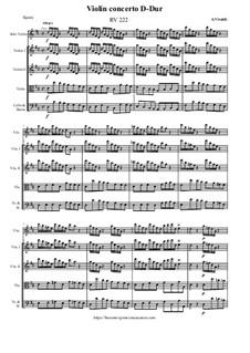 Violin concerto in D-Dur, RV 222: Violin concerto in D-Dur by Antonio Vivaldi